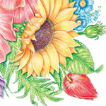 3 Paper Napkins for Decoupage / Parties / Weddings - Sunflower Garden
