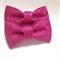 2 x stiff pink glitter bows