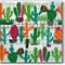 3 Paper Napkins for Decoupage / Parties / Weddings - Cactus