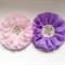 2 x Chiffon flower. Pink and Purple