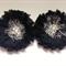2 x Black Chiffon flower