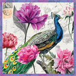 3 Paper Napkins for Decoupage / Parties / Weddings - Bird