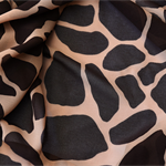 Giraffe Printed georgette fabric. A striking print for dresses, craft, etc