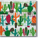 3 Paper Napkins for Decoupage / Parties / Weddings - Cactus