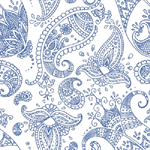 3 Paper Napkins for Decoupage / Parties / Weddings - Indigo Paisley