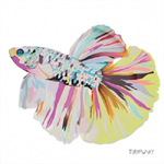 3 Paper Napkins for Decoupage / Parties / Weddings - Corfu Fish