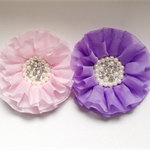 2 x Chiffon flower. Pink and Purple