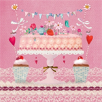 3 Paper Napkins for Decoupage / Parties / Weddings - Cake