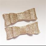 2 x Gold Glitter bows