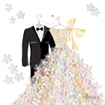 3 Paper Napkins for Decoupage / Parties / Weddings - Bride & Groom