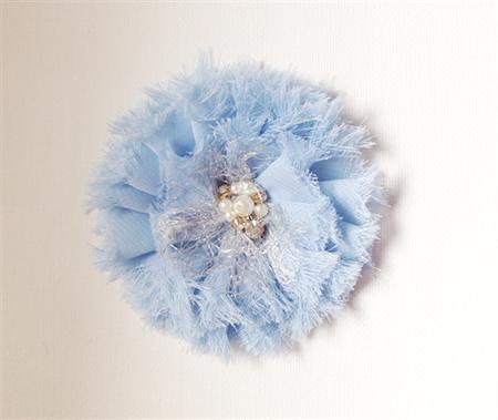 1 x Blue Chiffon flower