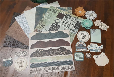 Back in Time Paper Embellishment pack 3