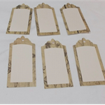 TAGS SCRAPBOOKING EMBELLISHMENTS X 6