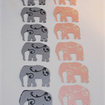 ELEPHANT DIE CUTS X12