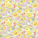 Liberty of London Betsy Yellow Tana Lawn Fabric