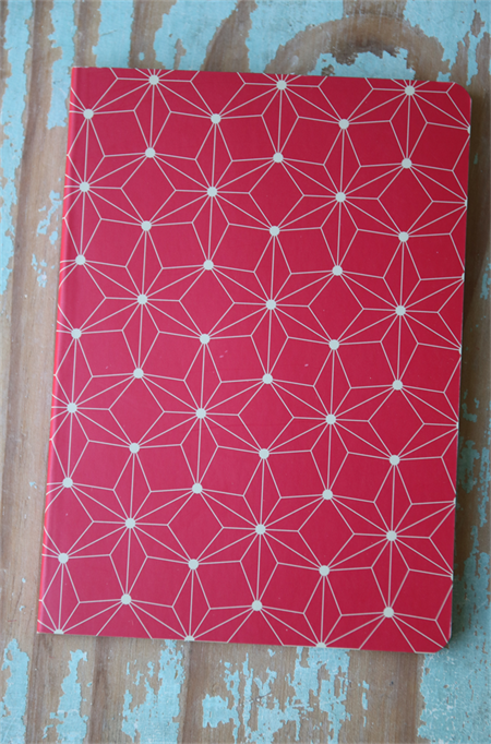 Red and White Notebook ~ Ready for a little DIY ~ Decorate for Mother's Day
