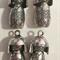 Geisha / kabuki doll pendant charms (4)