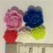 Flower cabochon embellishments (33) various colours