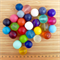 resin 20mm ball bead mixed bag of all 21 colours in range
