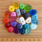 Mixed bag 24 x resin chip shaped beads