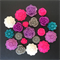 20 Pink Purple Grey White Mixed Flower Resin Cabochon Flatback Embellishments