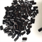 100 wooden tube beads - 1cm x 0.4cm, black