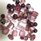 50 x mixed glass and crystal beads- pink and purple