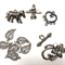 Mixed silver plated findings pack- clasps and charms