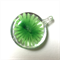 Large glass pendant - green floral disk 3.5cm x 3cm