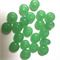20 x glass rondelles, jade green, 1cm diameter