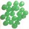 20 x glass rondelles, jade green, 1cm diameter