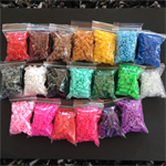 5mm Fuse Beads - Hama Perler Fusion Iron Beads - Sold per 100 - Craft DIY Kids