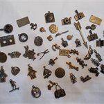 ANTIQUE BRONZE CHARMS (50) PIECES.