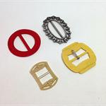 VINTAGE BUCKLES LOT, Plastic, Metal, Belt Buckles