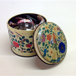 VINTAGE BUTTONS, Sewing Notions, Haberdashery, Buckles, Cotton Reels, Tea Caddy