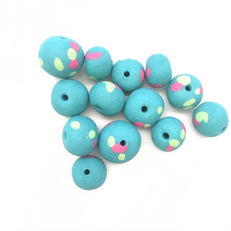 Handmade Polymer Clay beads x 13