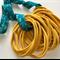 10 MUSTARD Super Soft Thin Wholesale Nylon Elastic  Baby Headbands