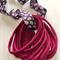 10 Burgundy Super Soft & Stretchy Thin Nylon Elastic  Baby Headbands