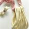 10 Ivory Cream Super Soft Stretchy Thin Nylon Elastic  Headbands One Size Fits