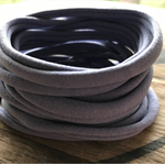 10 Lilac Super Soft Thin Wholesale Nylon Elastic  Baby Headbands