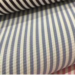Pale Purple and White Stripe Leatherette Sheet - A4 Size Faux Leather Fabric