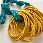 10 MUSTARD Super Soft Thin Wholesale Nylon Elastic  Baby Headbands