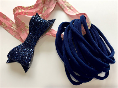 10 NAVY Super Soft Thin Wholesale Nylon Elastic  Baby Headbands