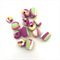 Handmade Polymer Clay beads x 13 - multi