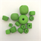 Handmade Polymer Clay beads x 14 - grass green feature beads
