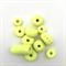 Handmade Polymer Clay beads x 11 -  fluro yellow