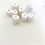Handmade Polymer Clay beads x 8 - white feature beads