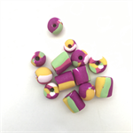 Handmade Polymer Clay beads x 13 - multi