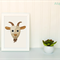 Goat Applique Template PDF Pattern Goat Face Applique Design
