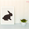 Bunny Rabbit Applique Template, Easter, Animal, DIY, Children, PDF Pattern